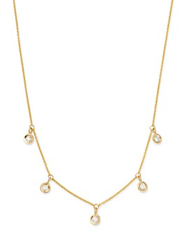 """Roberto Coin - 18K Yellow Gold Diamonds By The Inch Dangling Droplet Necklace, 18"""""""