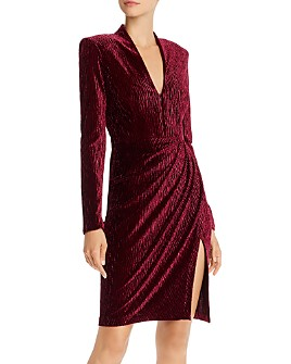 Amanda Uprichard - Joaquin Draped Textured-Velvet Dress