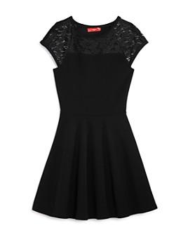 AQUA - Girls' Lace-Sleeve Dress, Big Kid - 100% Exclusive