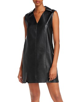 alexanderwang.t - Washable Faux Leather Mini Dress
