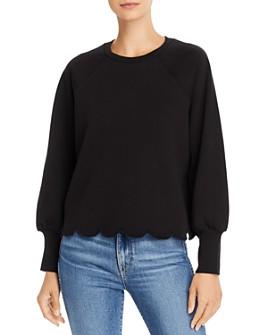 FRAME - Scalloped Crewneck Sweatshirt