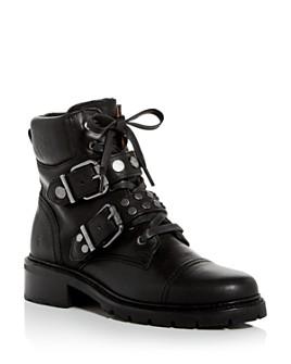 Frye - Women's Samantha Cap-Toe Combat Boots