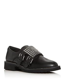 KURT GEIGER LONDON - Women's Seth Embellished Double Monk-Strap Loafers