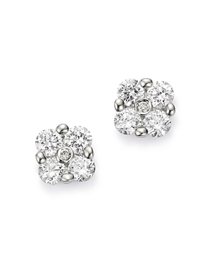 Bloomingdale's Cluster Diamond Stud Earrings in 14K White Gold, 0.55 ct. t.w. - 100% Exclusive