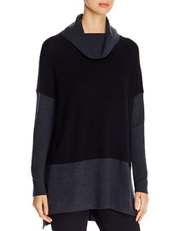 Eileen Fisher - Merino Wool Color-Block Sweater - 100% Exclusive
