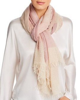 Eileen Fisher - Textured Color-Block Scarf