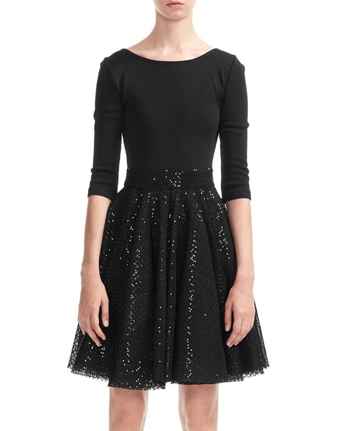 Maje - Romy Sequined-Skirt Dress