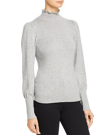 Rebecca Taylor - Cozy Lettuce-Edge Mock Neck Sweater - 100% Exclusive
