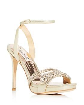 Badgley Mischka - Women's Adriana Embellished High-Heel Sandals