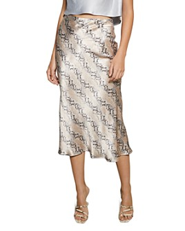 Bec & Bridge - Snakeskin-Print Midi Skirt