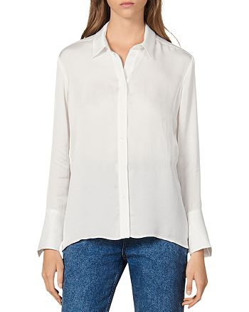 Sandro - Evan Sheer Button-Down Shirt