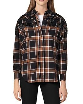 Sandro - Beans Embellished Western-Inspired Shirt