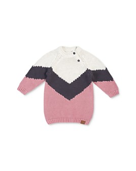 Miles Baby - Girls' Color-Block Sweater Dress - Baby