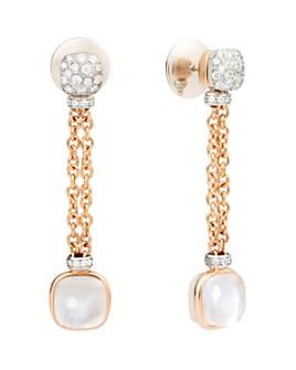 Pomellato - 18K Rose & White Gold Diamond, White Topaz & Mother-of-Pearl Chain Drop Earrings