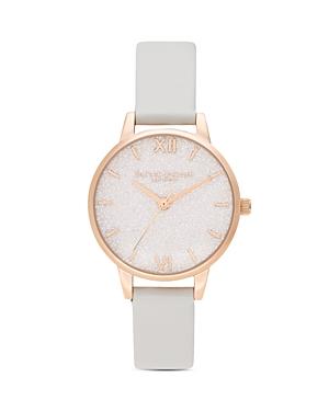 Olivia Burton Glitter Dial Vegan Strap Watch, 30mm
