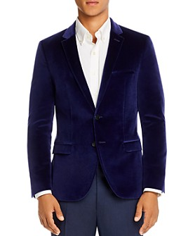 HUGO - Arti Velvet Extra Slim Fit Jacket