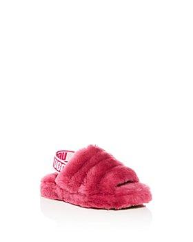 UGG® - Girls' Fluff Yeah Shearling Slingback Slippers - Little Kid, Big Kid
