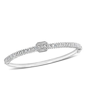 Bloomingdale's - Diamond Mosaic Bangle in 14K White Gold, 1.35 ct. t.w. - 100% Exclusive
