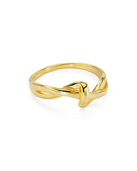 Argento Vivo - Flow Ring in 18K Gold-Plated Sterling Silver