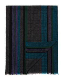 Paul Smith - Mixed-Panel Jacquard Scarf