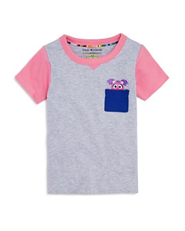 Isaac Mizrahi Loves Sesame Street - Girls' Abby Cadabby Pocket Tee, Baby, Little Kid - 100% Exclusive