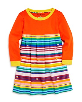 Isaac Mizrahi Loves Sesame Street - Girls' Striped Color-Block Dress, Little Kid - 100% Exclusive