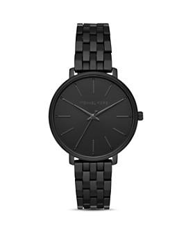 Michael Kors - Pyper Black Link Bracelet Watch, 38mm
