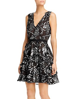 Rebecca Taylor - Silk-Blend Metallic-Paisley Dress