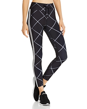 Aqua Athletic Windowpane Drawstring Leggings - 100% Exclusive