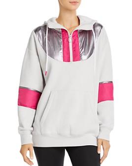 AQUA - Half-Zip Hooded Fleece Sweatshirt - 100% Exclusive