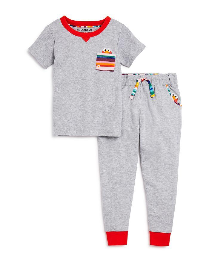 Isaac Mizrahi Loves Sesame Street - Unisex Elmo Pocket Tee & Jogger Pants, Baby, Little Kid - 100% Exclusive