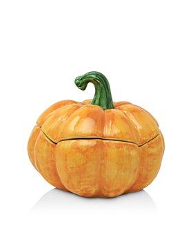 VIETRI - Pumpkins Figural Medium Covered Bowl
