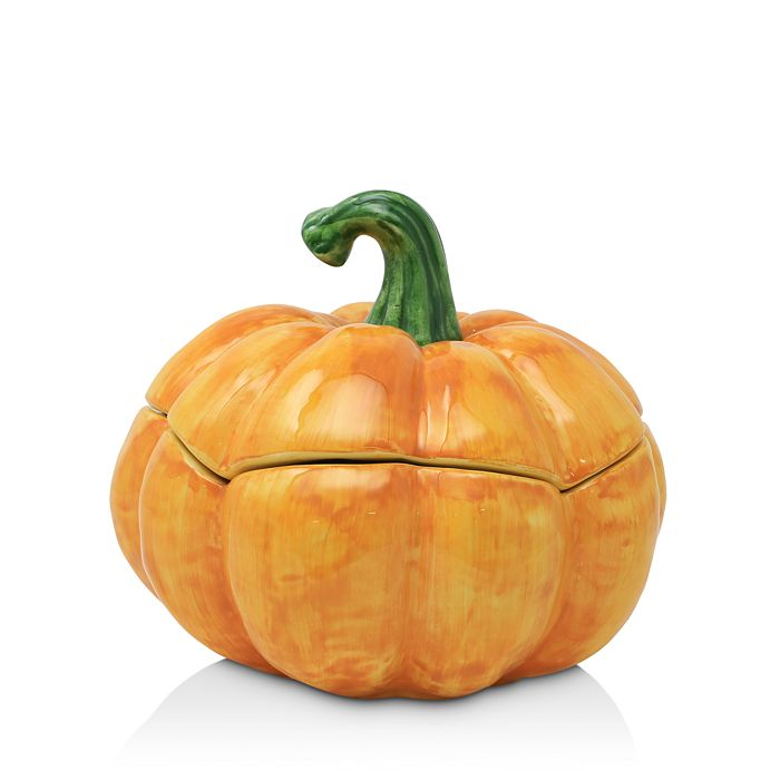 VIETRI - Pumpkins Figural Medium Covered Bowl