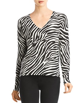 Bailey 44 - Heidi Zebra-Stripe Front Sweater