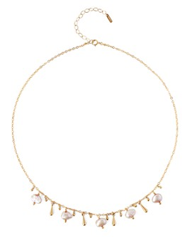 """Chan Luu - Adjustable Cultured Freshwater Pearl Necklace in 18K Gold-Plated Sterling Silver or Sterling Silver, 16""""-18"""""""