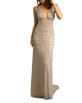 Basix - Beaded Open Back Gown
