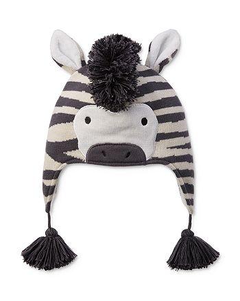 Elegant Baby - Boys' Knit Zebra Hat - Baby
