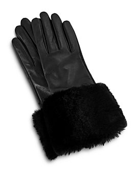 Ted Baker - Fleuri Faux-Fur Cuff Leather Gloves