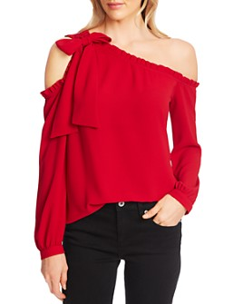 CeCe - Ruffled One-Shoulder Blouse