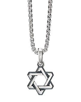 David Yurman - Sterling Silver Deco Star of David Pendant