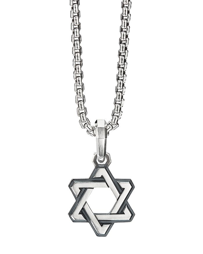 David Yurman - Sterling Silver Deco Star of David Pendant