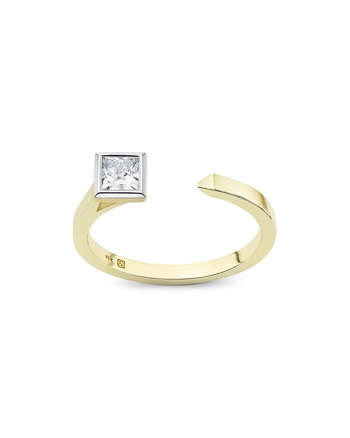 Lightbox Jewelry - Princess Open Top Lab-Grown Diamond Ring