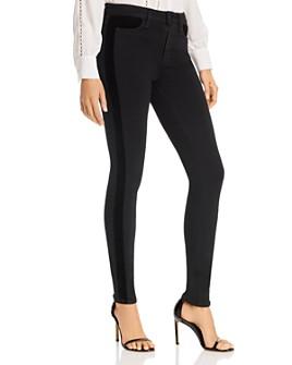 PAIGE - Hoxton Ultra Skinny Jeans in Velvet Onyx
