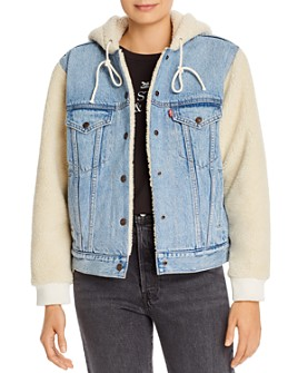 Levi's - Ex-Boyfriend Sherpa Sleeve Denim Trucker Jacket