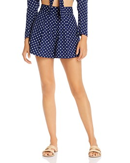 WeWoreWhat - Étoile Polka Dot Pleated Shorts