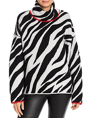 Rag & Bone Sweaters RAG & BONE KIKI ZEBRA WOOL-BLEND TURTLENECK SWEATER