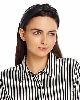 Lele Sadoughi - Faux-Leather Knot Headband