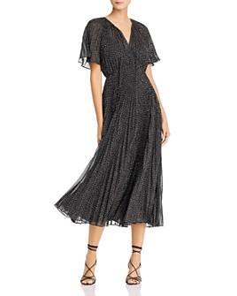 Jill Jill Stuart - Metallic Dot Chiffon Dress
