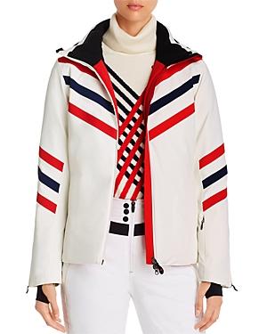 Perfect Moment Chevron Striped Ski Jacket
