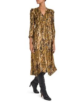 ba&sh - Sahara Snake Print Midi Dress